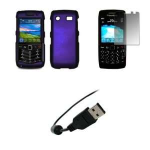 3G 9100   Premium Purple Rubberized Snap On Cover Hard Case Cell Phone