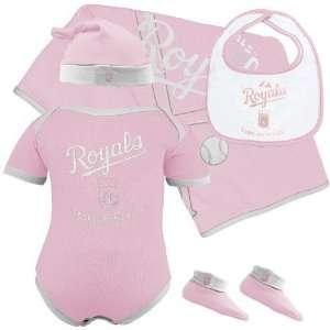 Newborn Girls 5 Piece Box Set   Light Pink/White