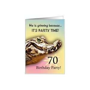 70 Party Invitiation. A big alligator smile for you Card: Toys & Games