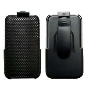 Black Mesh Hard Case / Cover / Shell for Apple iPhone 3G 3GS Cell