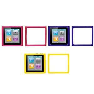Cases (Hot Pink, Purple, Yellow) for Apple iPod Nano 6th Gen