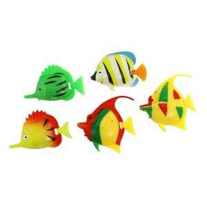 Multi colored Plastic Tropical Fish Decor for Aquarium: Pet Supplies