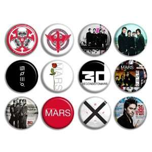 12 30 Seconds to Mars Music Band Buttons Pins Badges Cd New Collection