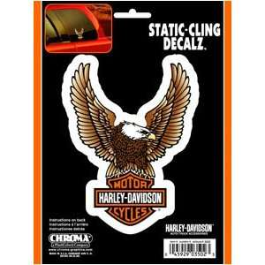 Graphics Harley Davidson Bar & Shield Decal   Static Cling: Automotive