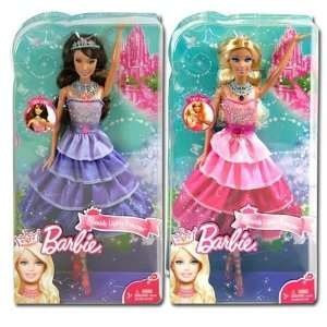 Mattel, Barbie Sparkle Lights Princess Doll Case Pack 6: Toys & Games