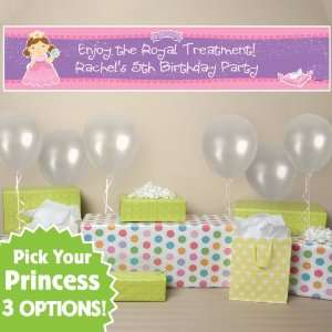 Pretty Princess   Personalized Birthday Party Banner Toys & Games