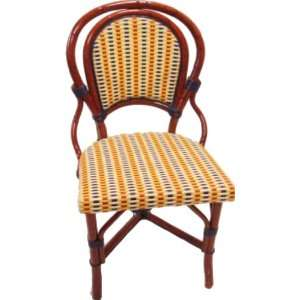 French Bistro Rattan Side Chair Weave Color/Pattern Brown