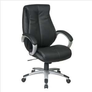 Executive Black Eco Leather Chair with Locking Tilt