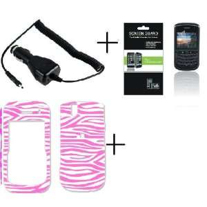 Screen Protector + Car Charger for Blackberry Tour 9630 / Bold 9650