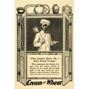 1902 Ad Black Americana Cream of Wheat Breakfast Cereal Chef Rastus
