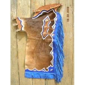 Riding Soft Hair On Leather Rodeo Western Chaps Sports & Outdoors