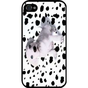 Spotty Dalmation Design Rubber Black iphone Case (with bumper) Cover