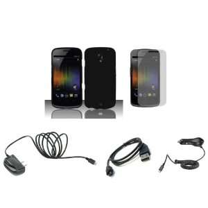 Nexus (Verizon) Premium Combo Pack   Black Hard Shield Case Cover