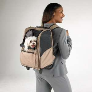 Pet Dog Cat Carrier With Wheels Backpack