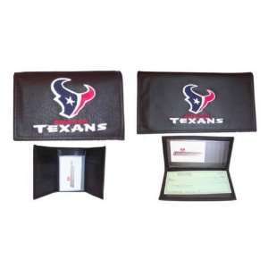 Houston Texans Tri Fold Wallet/Checkbook Cover Gift Package: