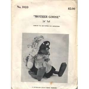 1973 Mother Goose Stuffed Doll Sewing Pattern Arts, Crafts & Sewing