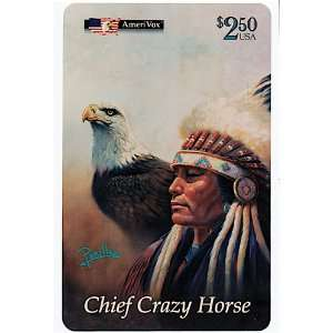 Collectible Phone Card $2.50 Chief Crazy Horse, Mighty Sioux, Oregon