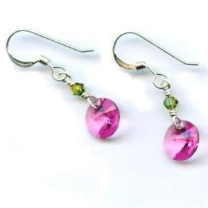 Grad or Mom   Swarovski Crystal Small Round Drop Earrings