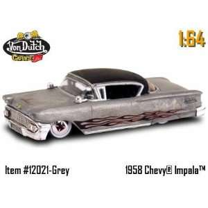 1:64 von Dutch Diecast Car   58 Chevy Impala Silver: Toys