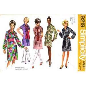 Simplicity 9219 Vintage Sewing Pattern Womens Dress Sash