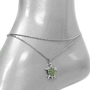 Fashion Jewelry ~ Green Turtle Anklet (Style 017a)  Sports