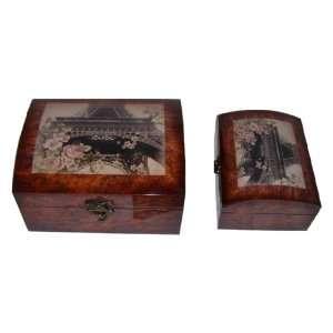 Keystone Decorative Eiffel Tower Jewelry Box   Set of 2