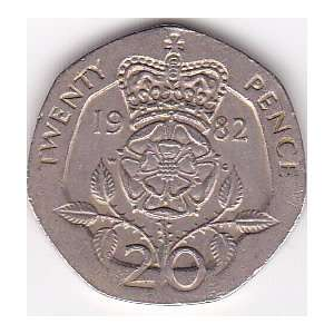 1982 Great Britain Twenty Pence Coin: Everything Else