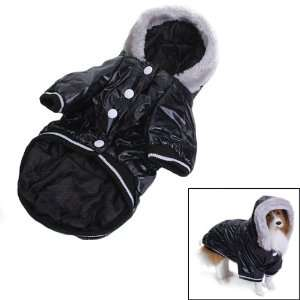 Pet Dog Hoodie Hooded Winter Puffy Coat Jacket Size XL   Black: Pet