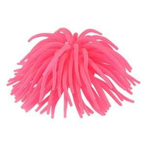 Diameter Deep Pink Soft Silicone Coral Shaped Ornament for Fish