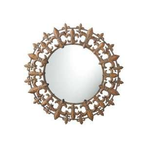 Fleur De Lis Wall Mirror in Antique Copper
