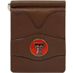 Tech Red Raiders Brown Leather Billfold Wallet