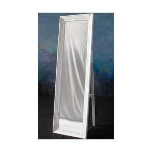 Cheval Mirror in White   Meridian Group   CVH0011