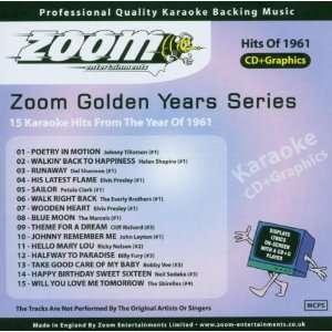 Karaoke CD+G   Golden Years 1961   15 Karaoke Hits Zoom Karaoke