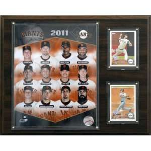 MLB San Francisco Giants 2011 Team Plaque  Sports