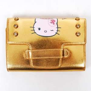 Hello Kitty Girls Wallet Clutch Card Holder Gold Office