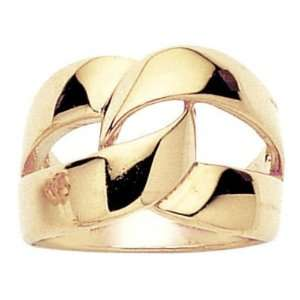 18K Gold Plated Creation Knot Band Ring   Size 7 Jewelry