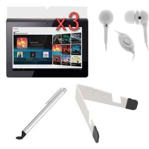 Microphone Headset + Universal Stylus with Flat Tip for Sony Tablet S1