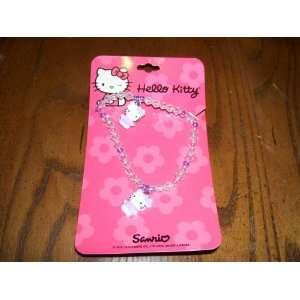 Sanrio Hello Kitty Beaded Necklace and Bracelet Sports