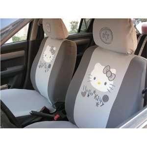 Car Seat Cover   10pcs Full Sethello Kitty Grey . Automotive
