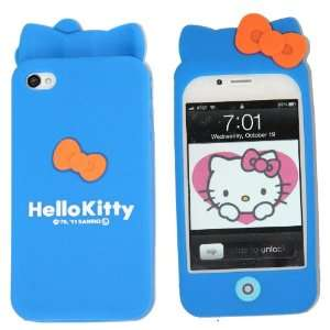 Hello Kitty Silicon Case Cover for Apple Iphone 4 4gs Sea