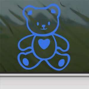 Hello Kitty Blue Decal Bear Sanrio Truck Window Blue
