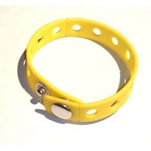 Yellow Rubber Bracelet Wristband for Shoe Jibbitz Crocs