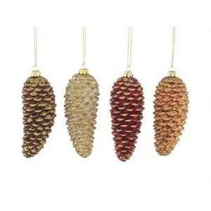 Set 8 Rustic Pine Cone Lodge Christmas Ornaments:  Home