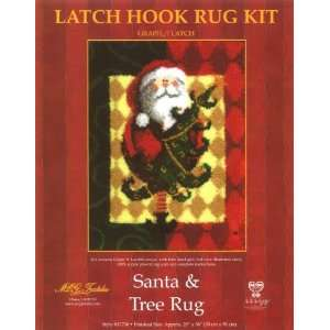 28x36 Latch Hook Kit: Santa & Tree: Arts, Crafts & Sewing