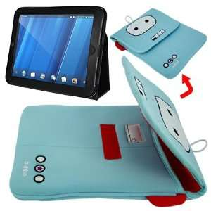 Case(10.1 inch)+Skque Black Leather Folio Case Cover for HP Touch Pad