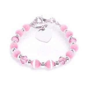 My First Baby or Childs Bracelet   Pink with Swarovski Crystal  Toys