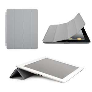 Slim Magnetic Smart Cover Case Grey for Apple The New iPad 2 iPad2