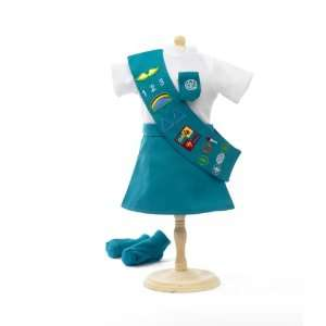 Doll Outfit Similar to Junior Girl Scout   18 Inch Dolls