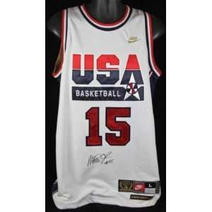 Magic Johnson Autographed Uniform   Usa Dream Team Jsa