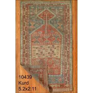 2x5 Hand Knotted Kurd Kurdistan Rug   211x55: Home & Kitchen